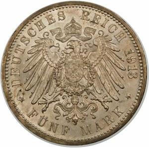 Niemcy, Badenia, Fryderyk II (1907–1918), 5 marek 1913 G, Karlsruhe