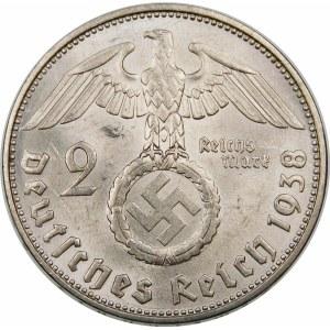 Niemcy, Paul von Hindenburg, 2 marki 1938 F, Stuttgart