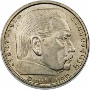 Niemcy, Paul von Hindenburg, 2 marki 1938 B, Wiedeń