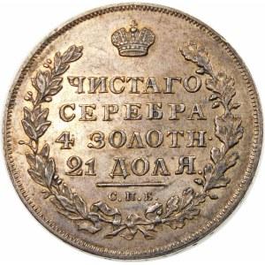 Rosja, Mikołaj I (1825-1855), rubel 1831 СПБ НГ, Petersburg – cyfra 2 zamknięta