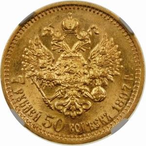 Rosja, Mikołaj II (1894–1917), 7 ½ rubla 1897 A Г, Petersburg