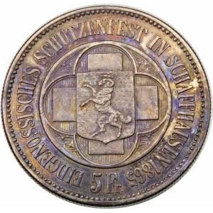 Szwajcaria, 5 franków 1865, Berno