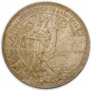 Szwajcaria, 5 franków 1883, Berno