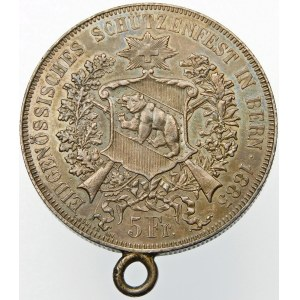 Szwajcaria, 5 franków 1885, Berno
