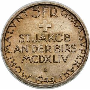 Szwajcaria, 5 franków 1944, Berno