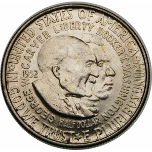 Stany Zjednoczone Ameryki (USA), 1/2 dolara 1952 – George Washington Carver i Booker T. Washington