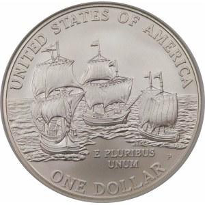 Stany Zjednoczone Ameryki (USA), dolar 2007, Filadelfia – 400 lat Jamestown – stempel zwykły