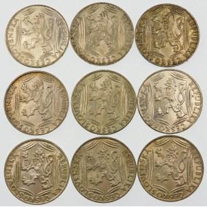 Czechosłowacja 100 koron, 1948 – zestaw (szt. 9)