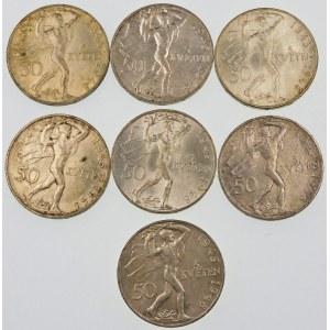 Czechosłowacja 50 koron, 1948 – zestaw (szt. 7)