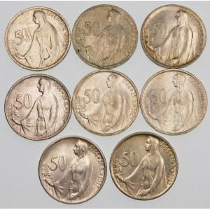 Czechosłowacja 50 koron, 1948 – zestaw (szt. 8)