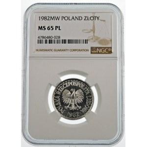 1 złoty 1982 PROOF LIKE