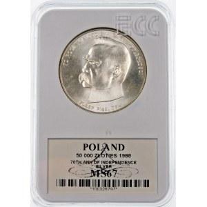 50000 złotych 1988 Józef Piłsudski