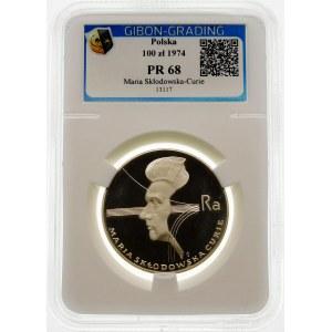 100 złotych 1974 Maria Skłodowska Curie - srebro