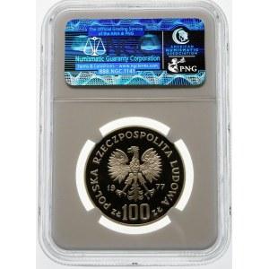 100 złotych 1977 Żubr - srebro