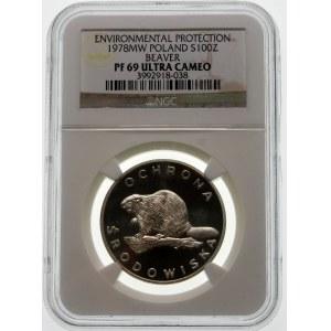 100 złotych 1978 Bóbr - srebro
