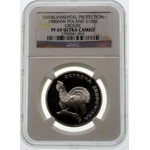 100 złotych 1980 Głuszec - srebro