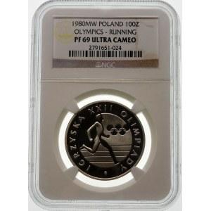 100 złotych 1980 Igrzyska XXII Olimpiady - srebro