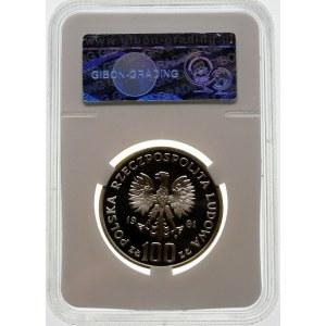 100 złotych 1981 Koń - srebro