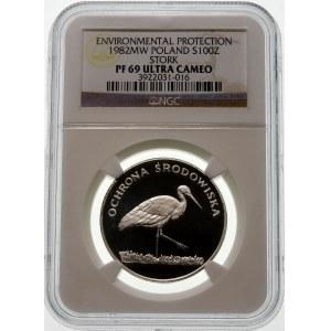 100 złotych 1982 Bocian - srebro