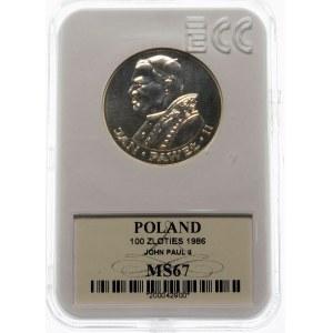 100 złotych 1986 Jan Paweł II - srebro