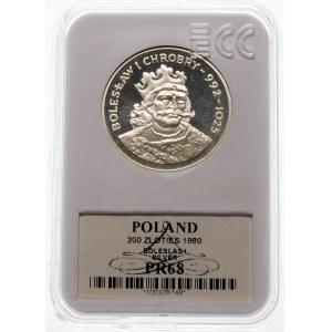 200 złotych 1980 Bolesław I Chrobry - srebro