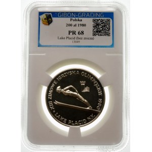 200 złotych 1980 Lake Placid - srebro
