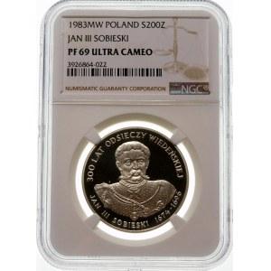 200 złotych 1983 Jan III Sobieski - srebro