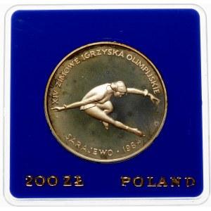 200 złotych 1984 XIV Zimowe Igrzyska Olimpijskie - srebro