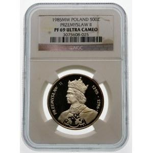 500 złotych 1985 Przemysław II - srebro
