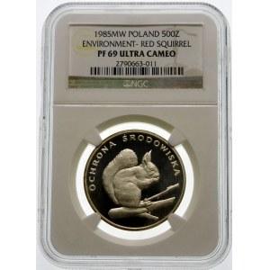 500 złotych 1985 Wiewiórka - srebro