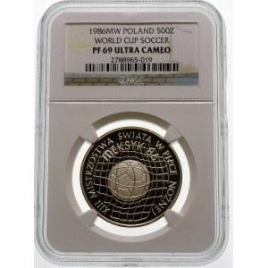 500 złotych 1986 MŚ w Meksyku - srebro