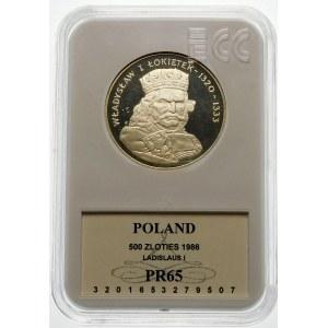 500 złotych 1986 Władysław I Łokietek - srebro