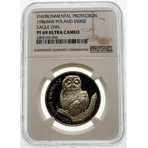 500 złotych 1986 Sowa - srebro
