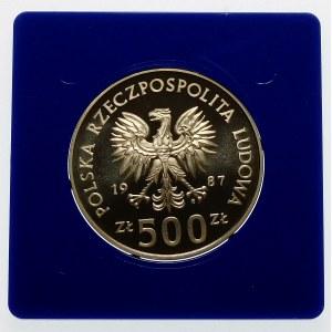500 złotych 1987 Igrzyska Seul - srebro