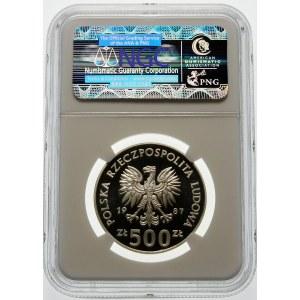 500 złotych 1987 XV Zimowe Igrzyska Olimpijskie - srebro