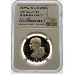 1000 złotych 1982 Jan Paweł II - srebro