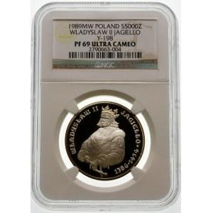 5000 złotych 1989 Władysław II Jagiełło - srebro