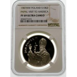 10000 złotych 1987 Jan Paweł II - srebro