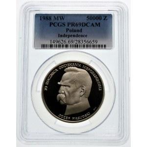 50000 złotych 1988 Józef Piłsudski - srebro