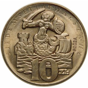 Próba 10 złotych 1965 Siedemset Lat Warszawy - miedzionikiel STAN
