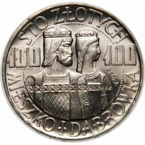 Próba 100 złotych 1966 Mieszko i Dąbrówka - srebro