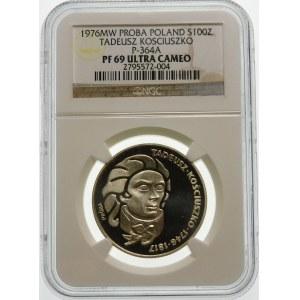 Próba 100 złotych 1976 Kościuszko - srebro