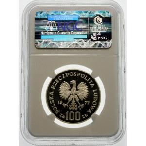 Próba 100 złotych 1977 Ryba - srebro