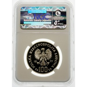 Próba 100 złotych 1977 Żubr - srebro