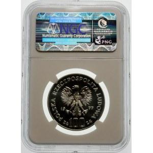 Próba 100 złotych 1977 Zamek Królewski - srebro