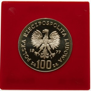 Próba 100 złotych 1977 Sienkiewicz - srebro