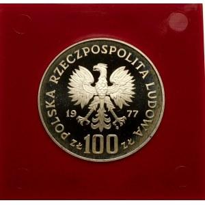 Próba 100 złotych 1977 Reymont - srebro