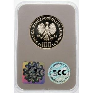 Próba 100 złotych 1978 Interkosmos 78 - srebro