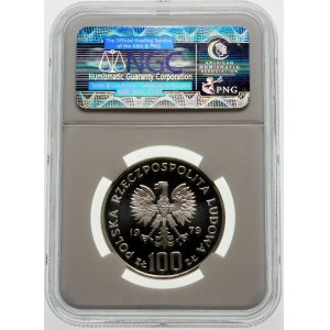 Próba 100 złotych 1979 Zamenhof - srebro