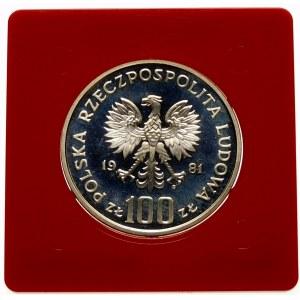 Próba 100 złotych 1981 Kościół Mariacki - srebro